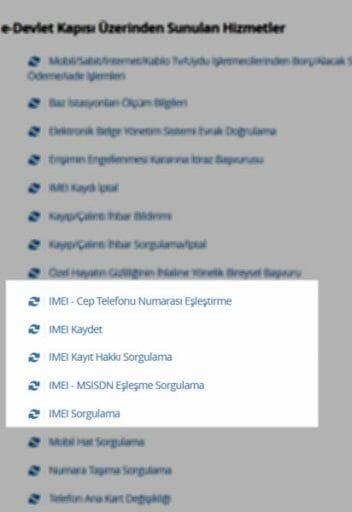 e-devlet imei sorgulama