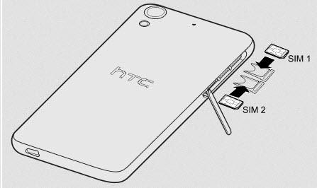 HTC Desire 626 sim-takma