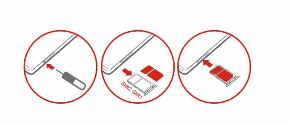 Lenovo vibe x2 sim kart takma