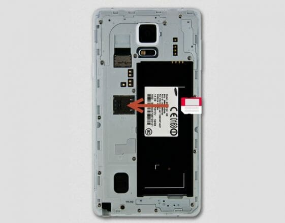 Samsung Galaxy Note 4-sim-takma