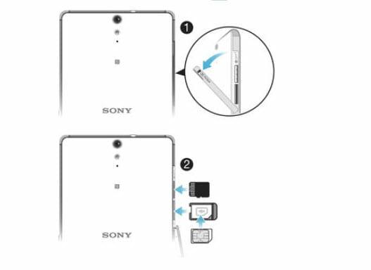 Sony Xperia C5-sim-takma