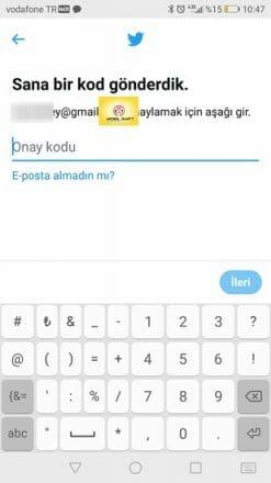 mobil twitter kaydolma formu