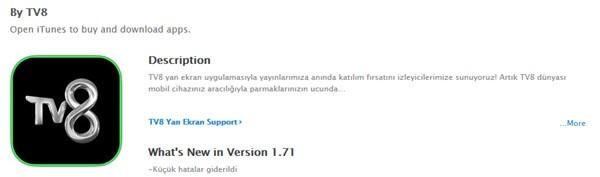 tv8-ios-uygulaması