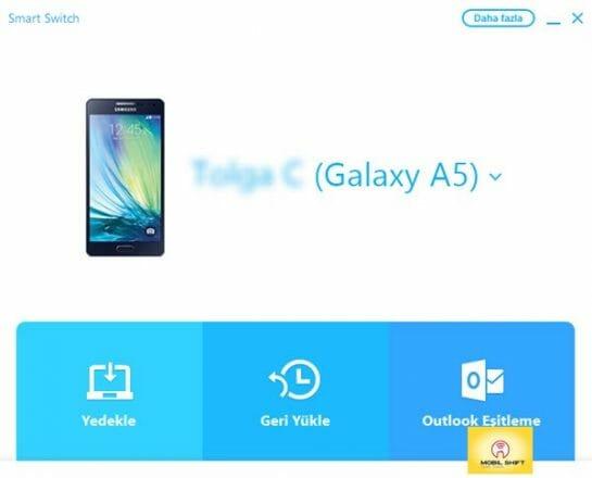Samsung J1-J2-J5-j7 rehber yedekleme