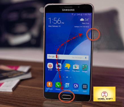 Galaxy A9 ekran resmi çekme
