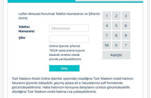 *952# ne işe yarıyor & Turk Telekom Online Giriş
