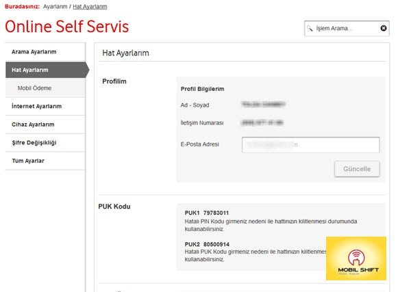 Puk kodu öğrenme | Vodafone Pin Bloke kaldırma