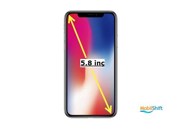 iphone ekran boyu