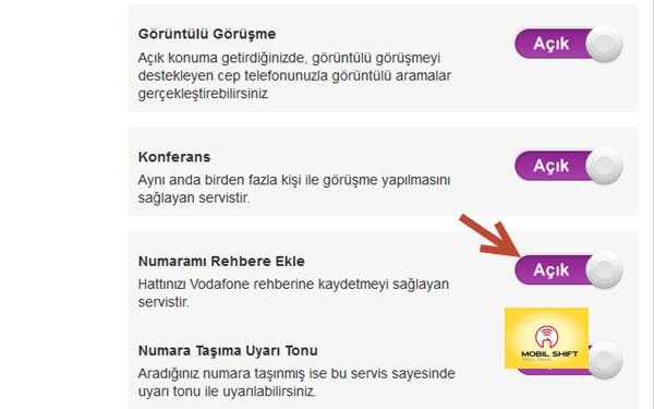 Vodafone 11880 Kapatma