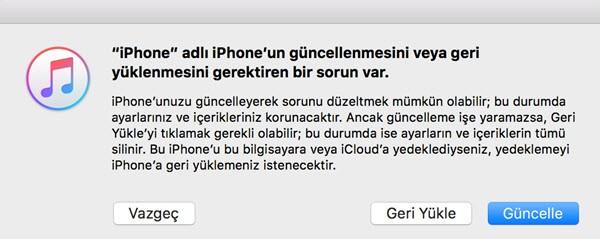 iTunes2e bağlan hatası
