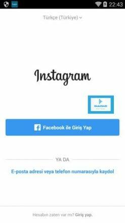 instagram mobil facebook giriş