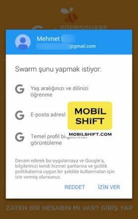 swarm google giriş