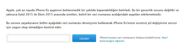 iphone 6s pil sorgulama
