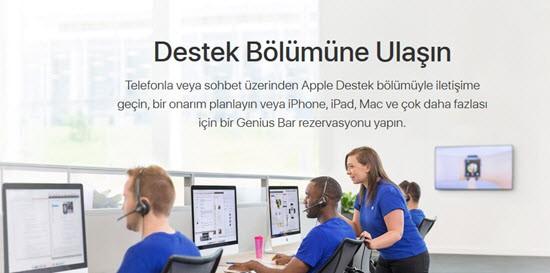 apple destek ekibi