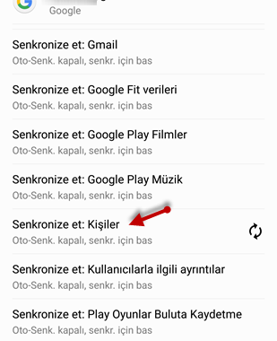 Gmail Rehber ile Android Senkronizasyon İşlemi