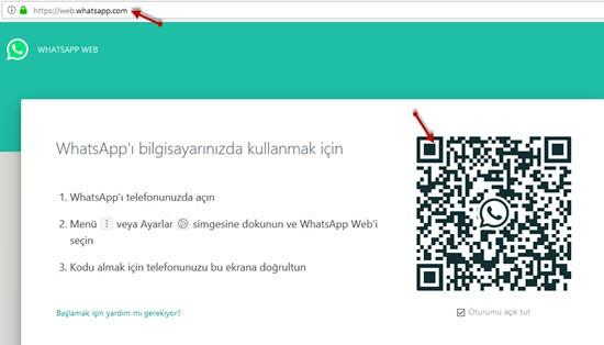 web whatsapp girişi qr