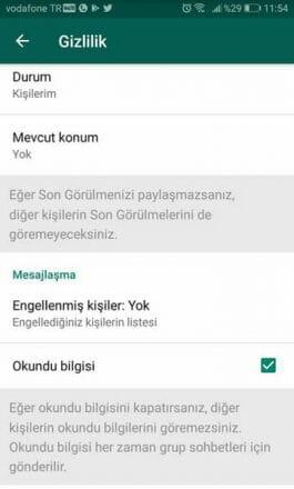whatsapp duruma gizlice bakma
