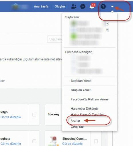 swarm facebook bağlantısını kaldırma