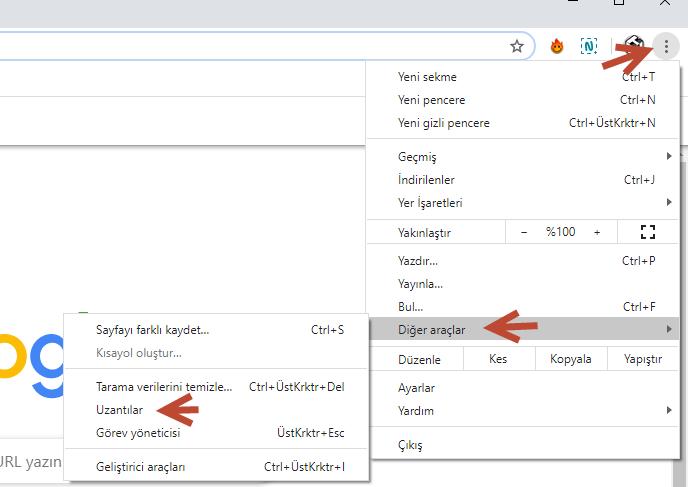 Chrome Uzantılar | Eklentiler Nerede